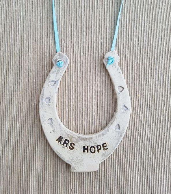 personalised lucky horseshoe