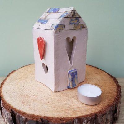 ceramic tea light house wedding gift