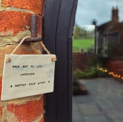 wedding plaque sign