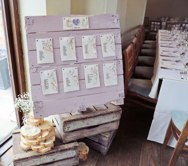 ceramic tile wedding seating plan