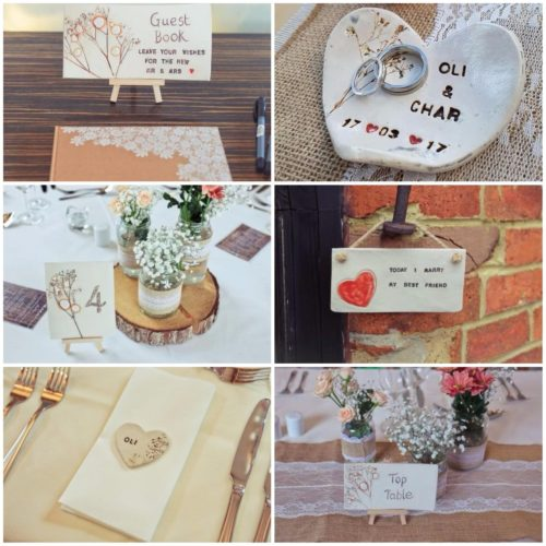 wedding ceramics personalised
