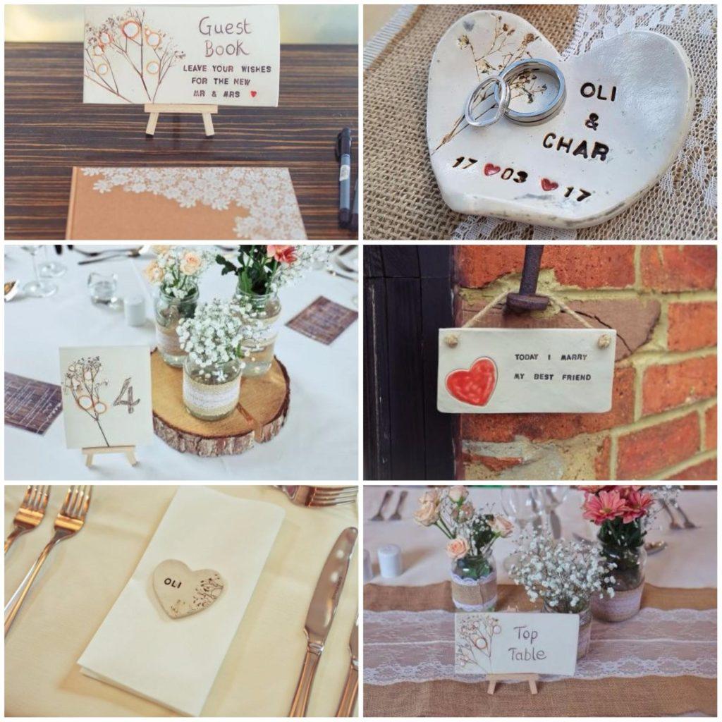 wedding ceramics personalised