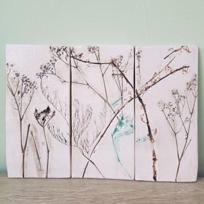 ceramic floral wall art tiles
