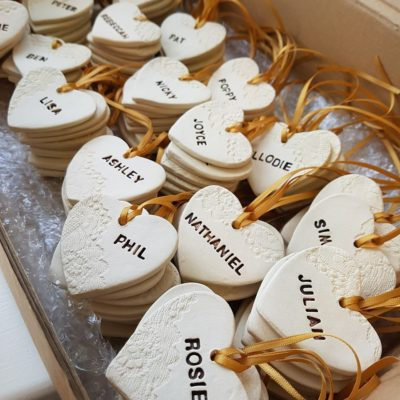 Personalised Wedding Heart Favours