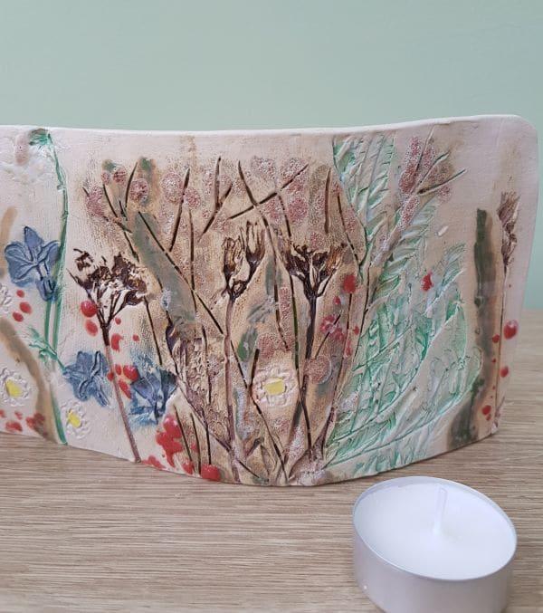 freestanding ceramic art