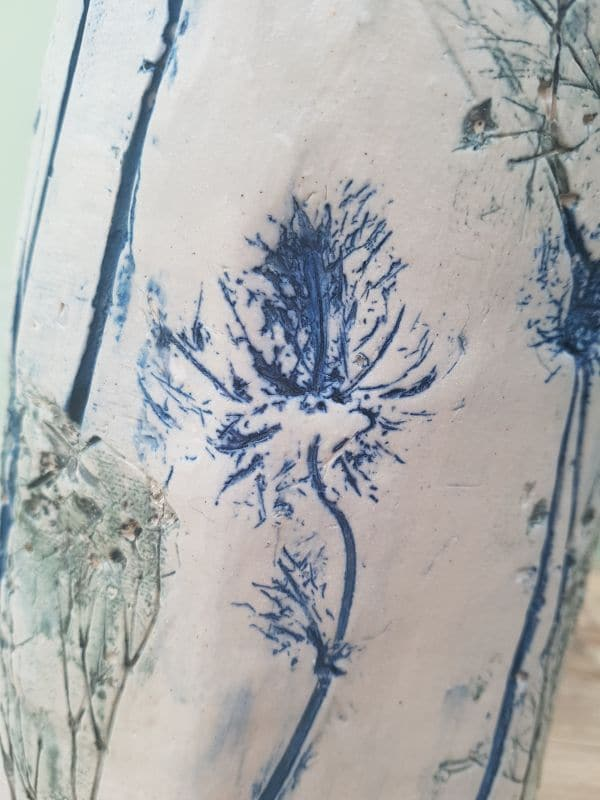 blue thistle clay imprint