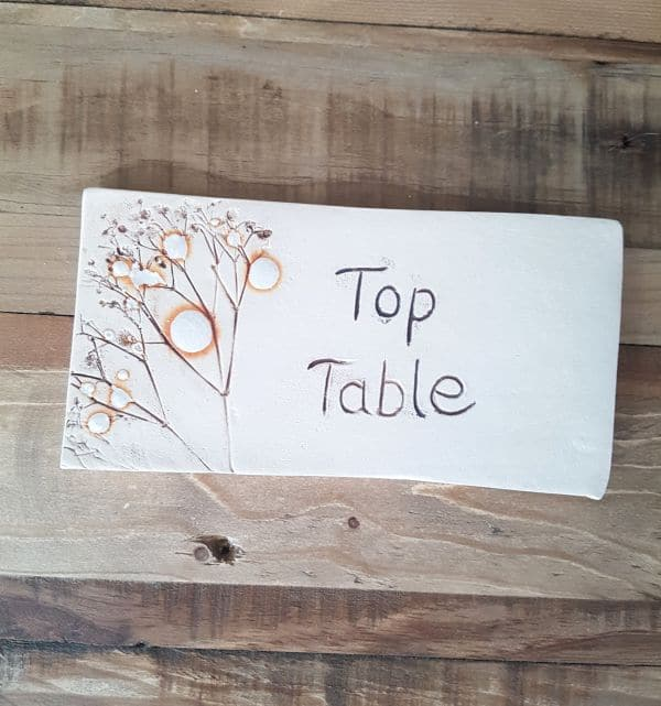 top table wedding tile