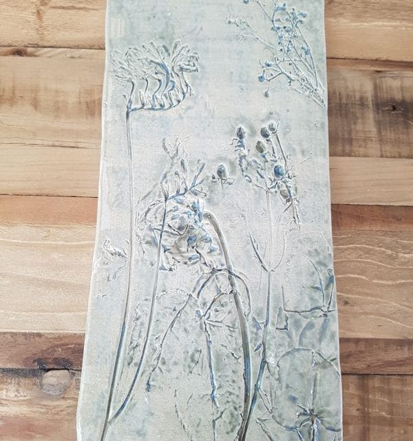 floral ceramic wall art tile