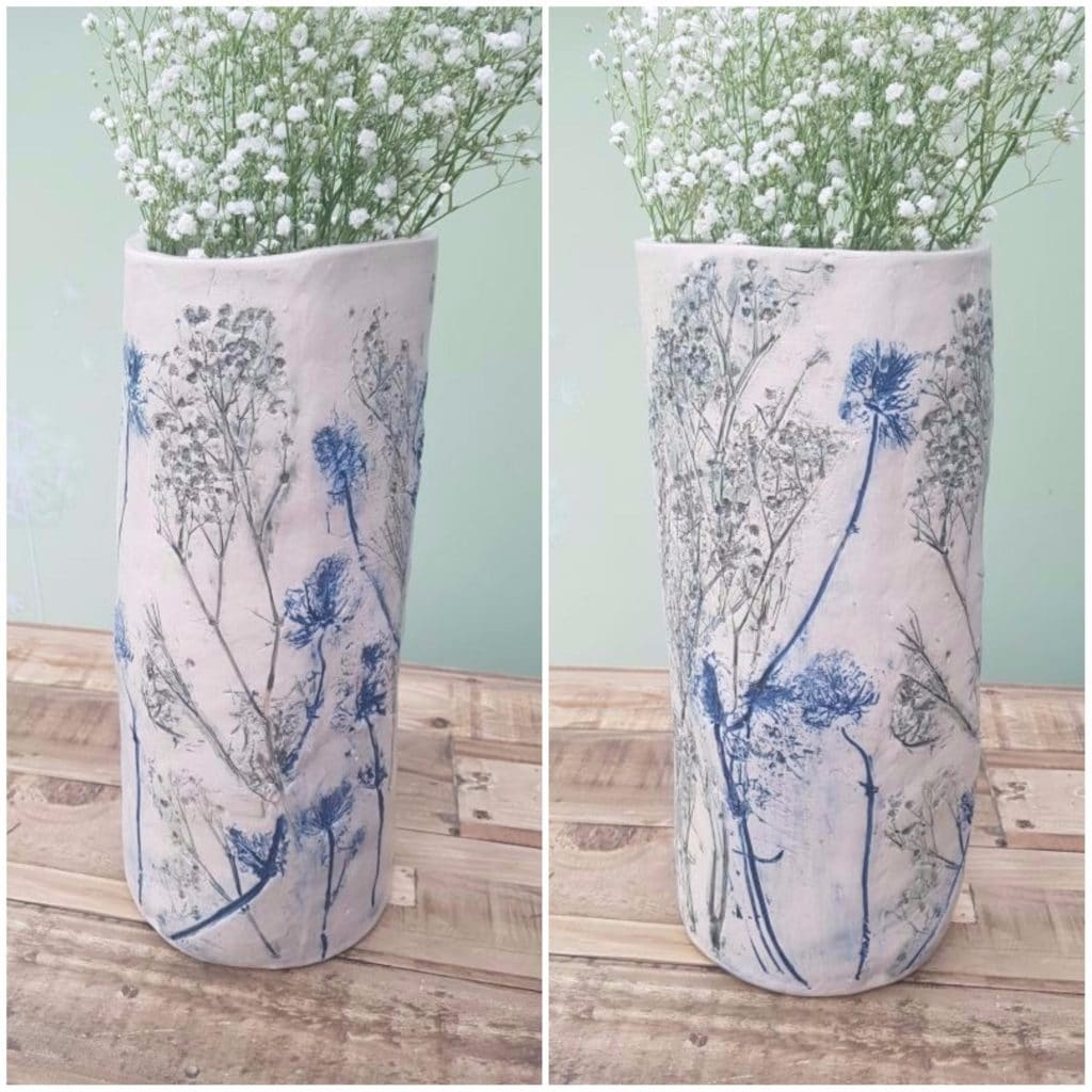 vase vessel impressed wedding flowers