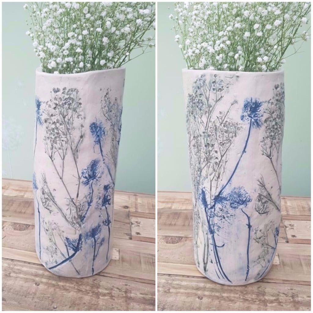 vase vessel impressed wedding flowers
