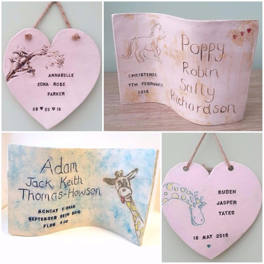 newborn personalised ceramics