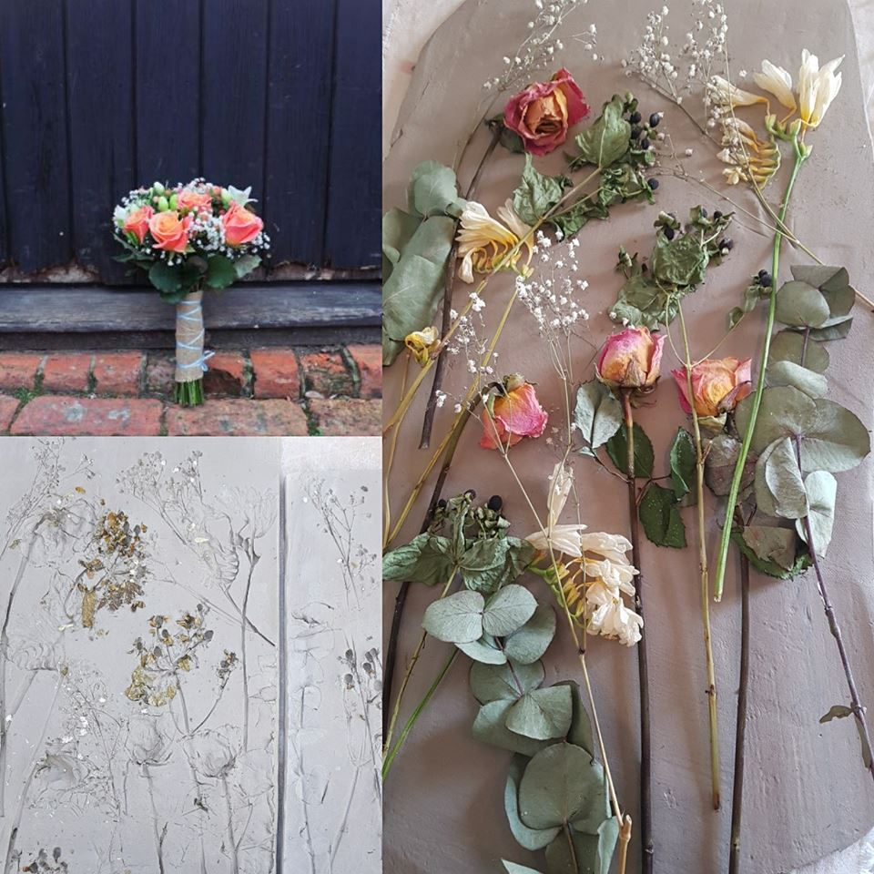wedding bouquet impression wall tile