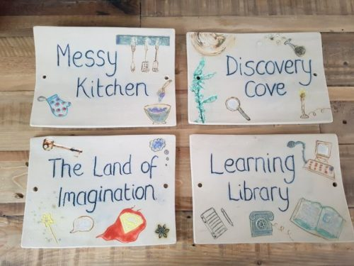 handmade ceramic door tile signs