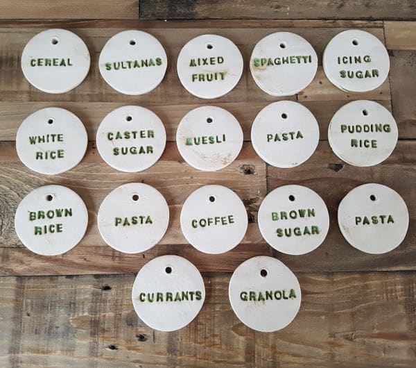 Ceramic Pantry Jar Labels Charlotte Hupfield Ceramics