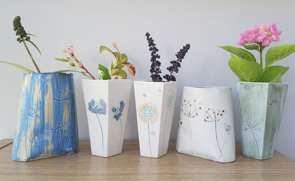 handmade ceramic bud vases