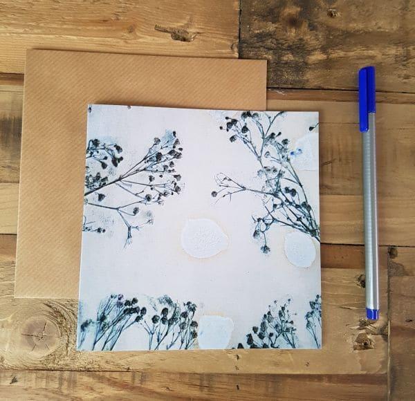 grey floral card