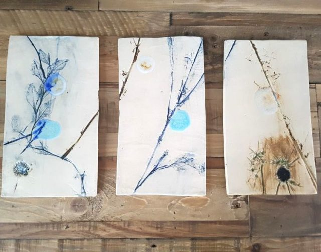 moonlit meadow wall hanging tiles