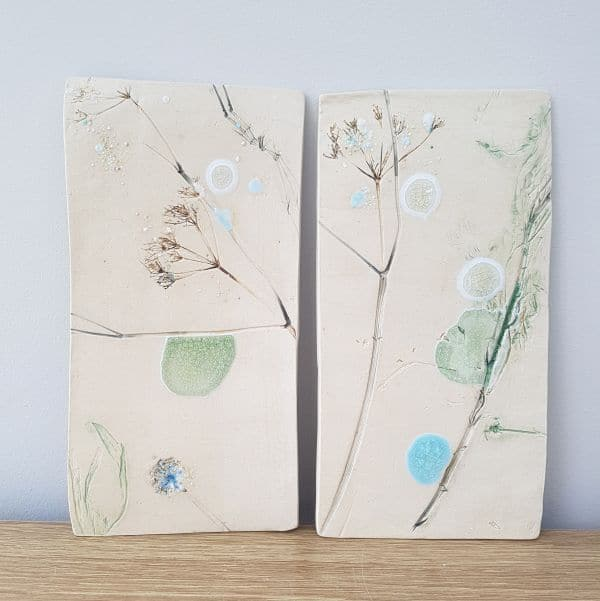 floral ceramic wall art tiles