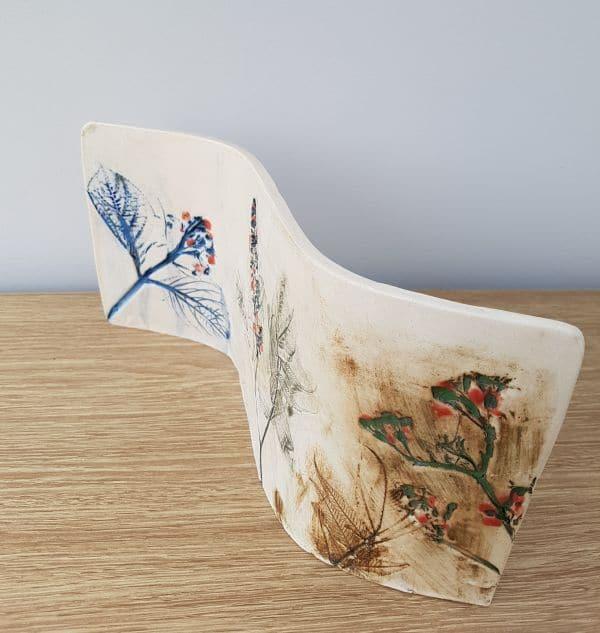 curved ceramic art
