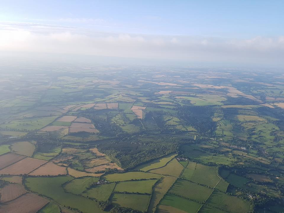 view from balloon