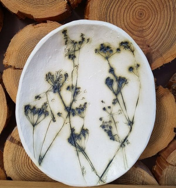 cow parsley oval dish
