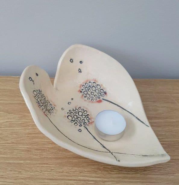 dandelion heart dish