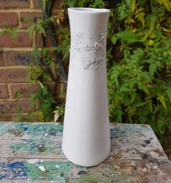 sealine white vase