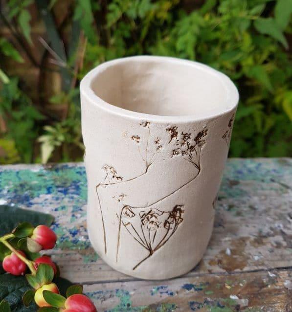 natural floral bud vase