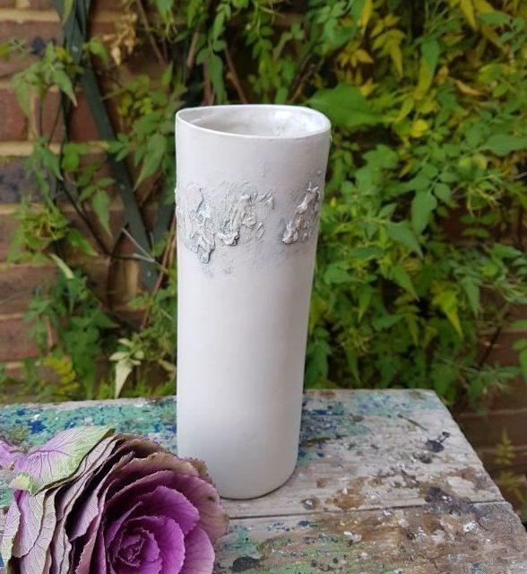grey sealine cylinder vase