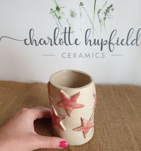 stars ceramic pot