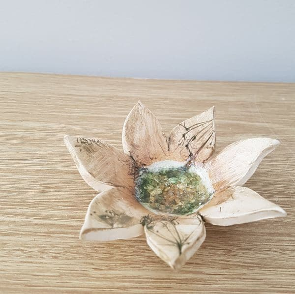 ceramic flower dish