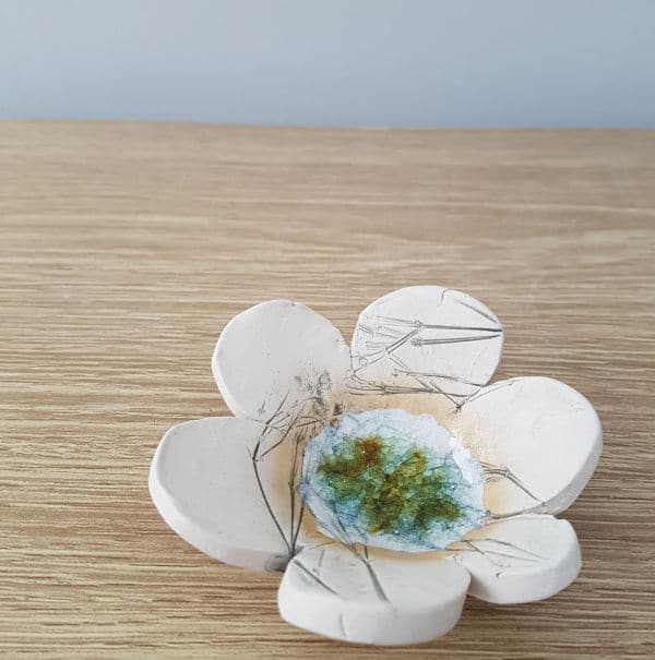 ceramic flower ring dish