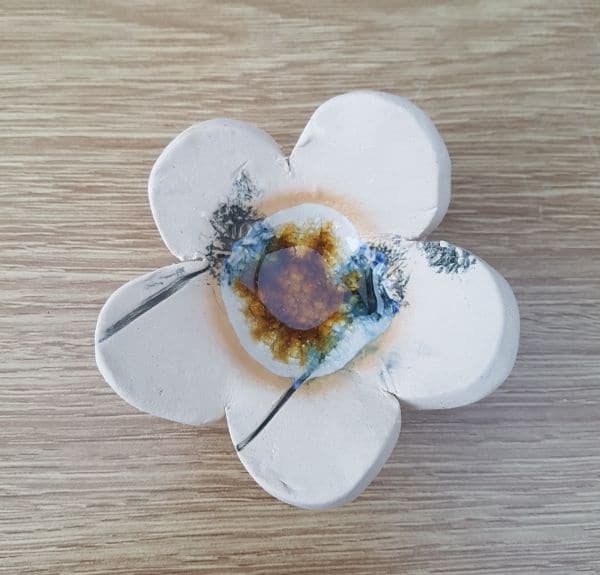 ceramic flower tea light holder
