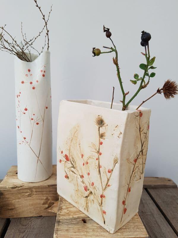 Charlotte Hupfield red berries vases
