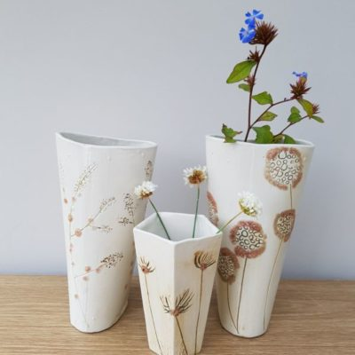 natural ceramic vase collection