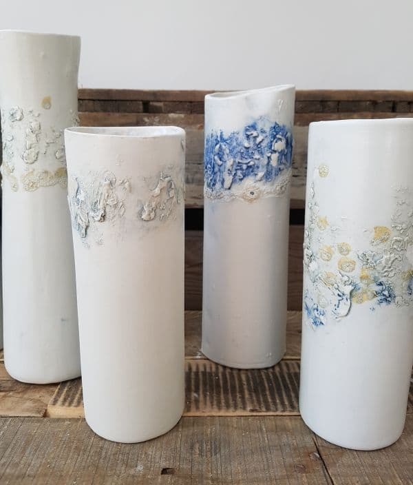 ceramic sea line vases