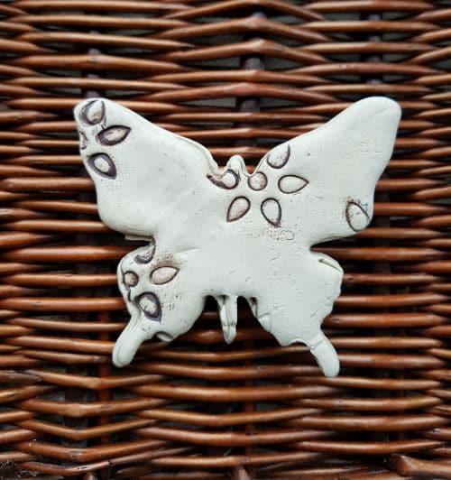 ceramic butterfly brooch