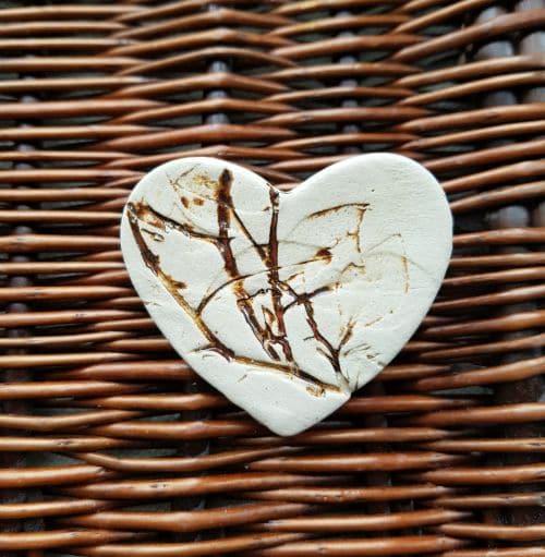 ceramic heart brooch