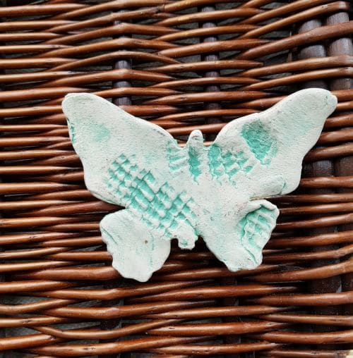 ceramic butterfly brooch