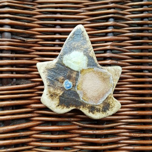 ceramic leaf brooch