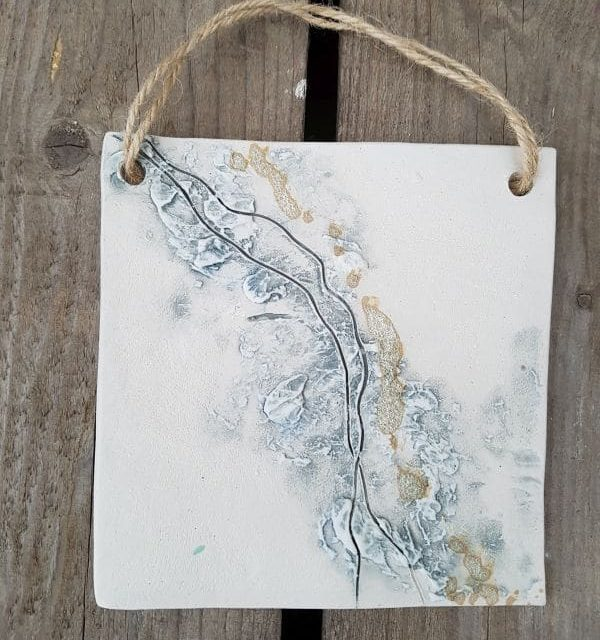 sea line ceramic plaque