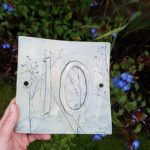 ceramic house number plaque tile
