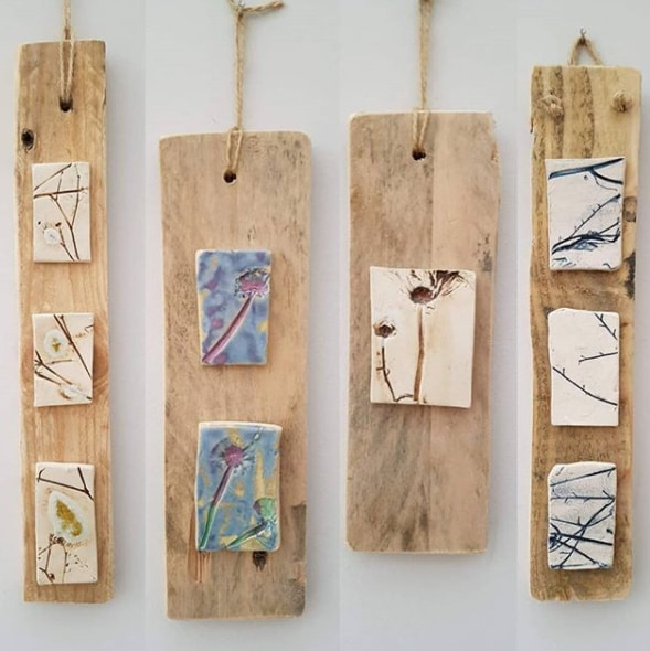 mixed media wall hangings