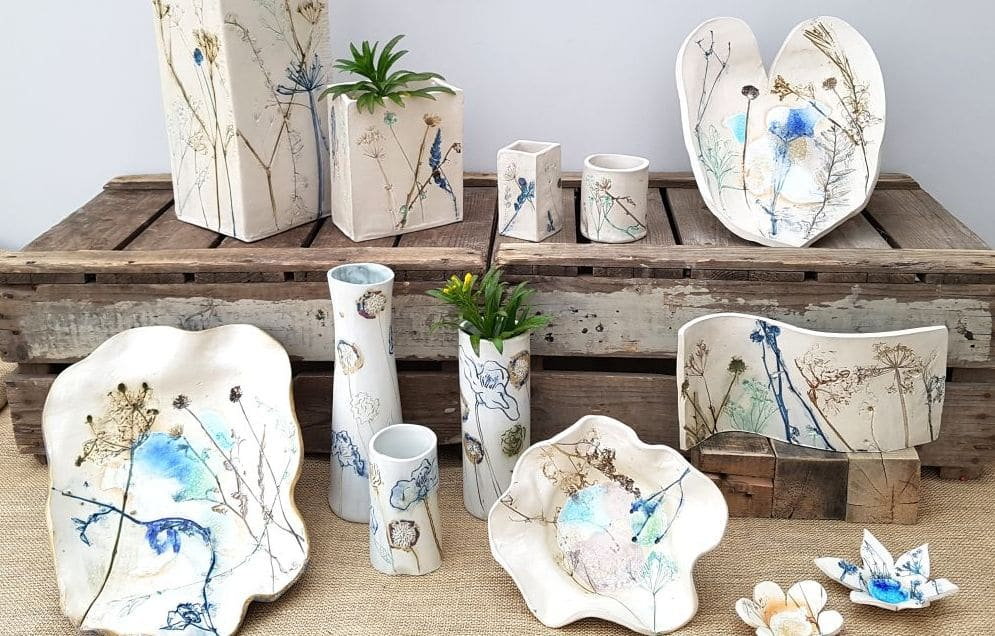 botanical blooms ceramic collection