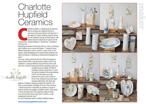 Craft&Design article