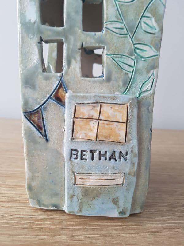 personalised tea light house
