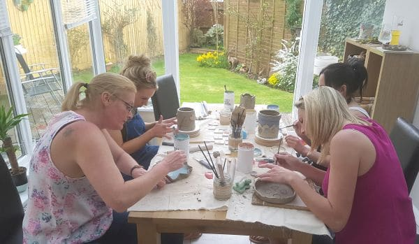 pottery class Northamptonshire