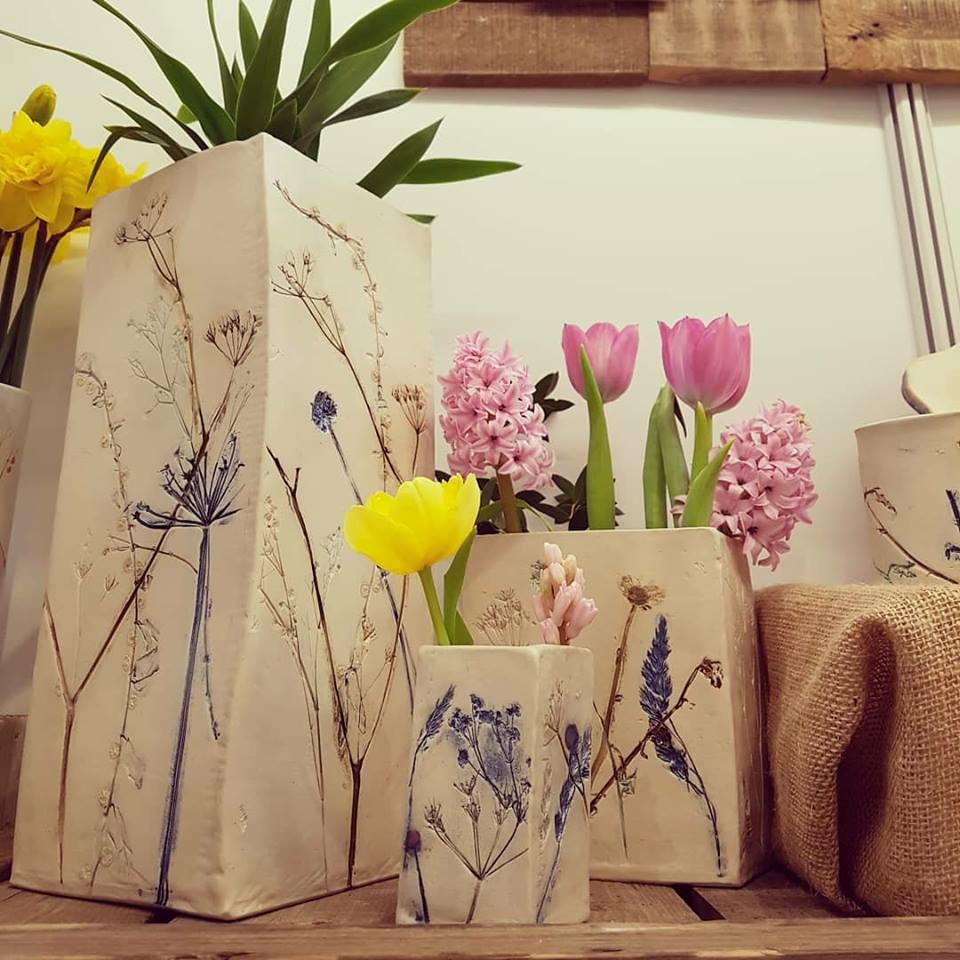 Charlotte Hupfield ceramic botanical vessels