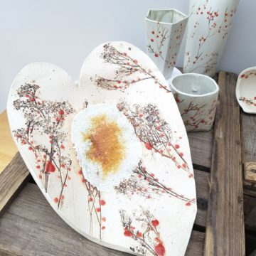 red berries ceramic collection by Charlotte Hupfield