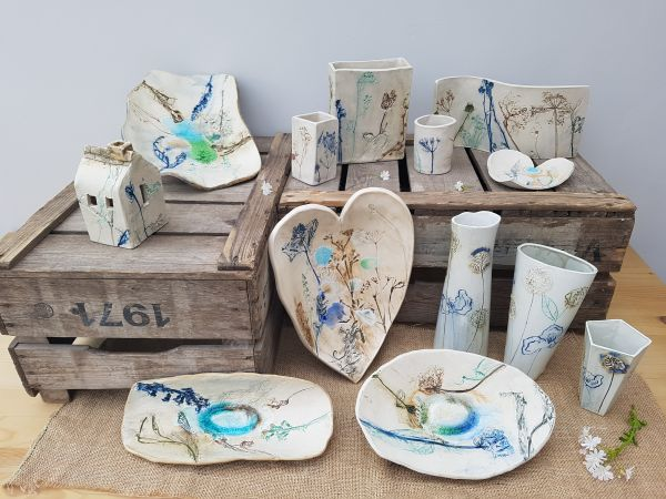 botanical blooms ceramic collection